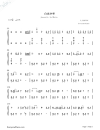 Juvenile In White-I Will Never Let You Go ED-Numbered-Musical-Notation-Preview-1