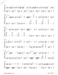 Juvenile In White-I Will Never Let You Go ED-Numbered-Musical-Notation-Preview-2
