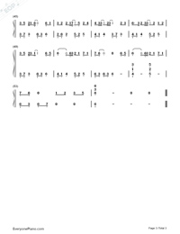 Juvenile In White-I Will Never Let You Go ED-Numbered-Musical-Notation-Preview-3