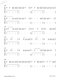 Easier-5 Seconds of Summer-Numbered-Musical-Notation-Preview-3