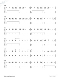 Easier-5 Seconds of Summer-Numbered-Musical-Notation-Preview-4