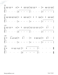 Easier-5 Seconds of Summer-Numbered-Musical-Notation-Preview-5