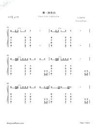 First Love Confession-TFBOYS-Numbered-Musical-Notation-Preview-1