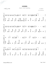 Double Sided Swaddling-Princess Agents OST-Numbered-Musical-Notation-Preview-1