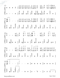 Double Sided Swaddling-Princess Agents OST-Numbered-Musical-Notation-Preview-2
