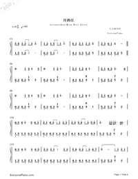 Getsuseikou-Moon West River-Numbered-Musical-Notation-Preview-1