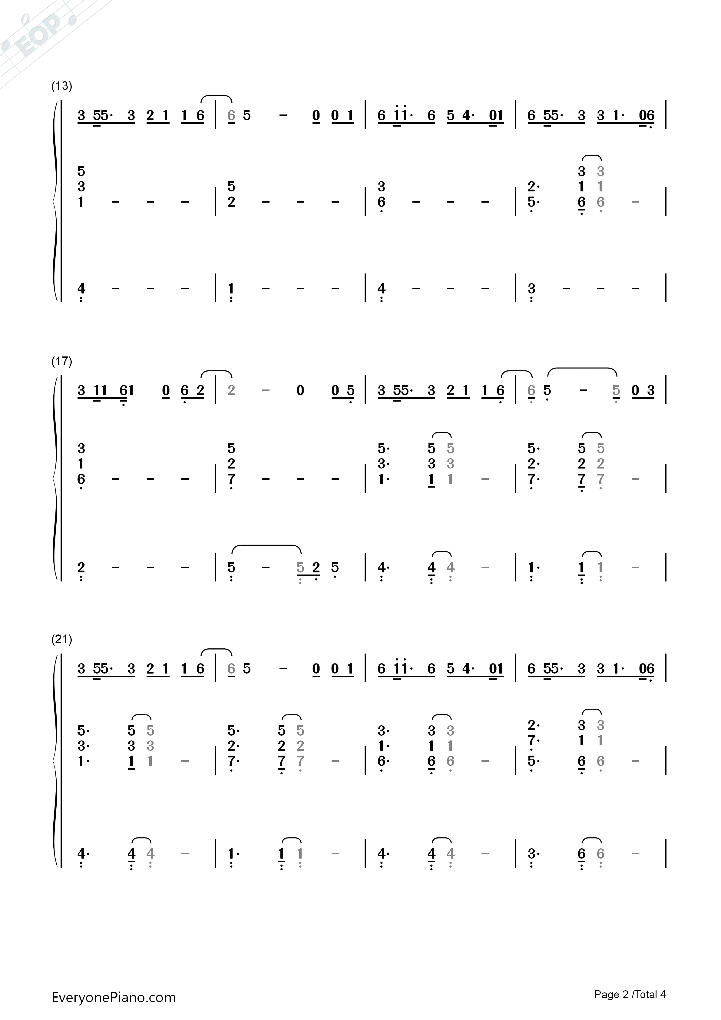 18-G.E.M. Numbered Musical Notation Preview 2