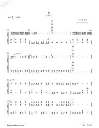 Sakura-Ancient City II-Numbered-Musical-Notation-Preview-1