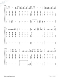 Fade-Lewis Capaldi-Numbered-Musical-Notation-Preview-3