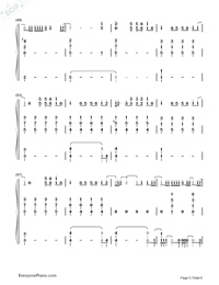 Fade-Lewis Capaldi-Numbered-Musical-Notation-Preview-5