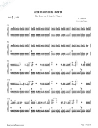 The Rose on A Lonely Planet-Numbered-Musical-Notation-Preview-1