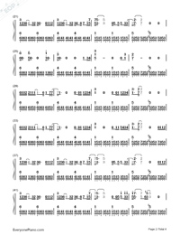 The Rose on A Lonely Planet-Numbered-Musical-Notation-Preview-2