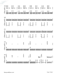 The Rose on A Lonely Planet-Numbered-Musical-Notation-Preview-3