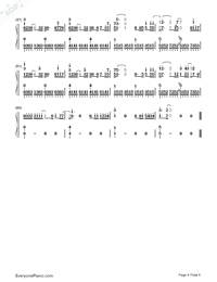The Rose on A Lonely Planet-Numbered-Musical-Notation-Preview-4