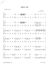 The Color of The Stars-Numbered-Musical-Notation-Preview-1