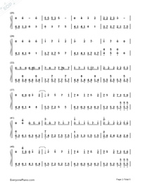 The Color of The Stars-Numbered-Musical-Notation-Preview-2