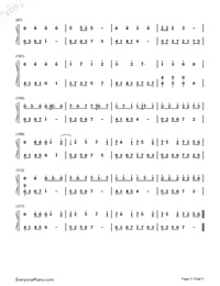 The Color of The Stars-Numbered-Musical-Notation-Preview-5