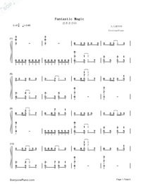 Fantastic Magic-Ninja Slayer ED Numbered Musical Notation Preview 1