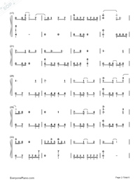 Fantastic Magic-Ninja Slayer ED Numbered Musical Notation Preview 2