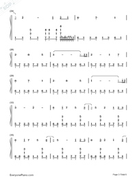 Neon-Rolling Sky-Numbered-Musical-Notation-Preview-3