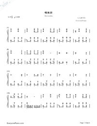 Katyusha-Full Version-Numbered-Musical-Notation-Preview-1