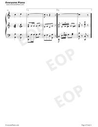 Give My Regards To Broadway-Little Johnny JonesOST五線譜プレビュー4