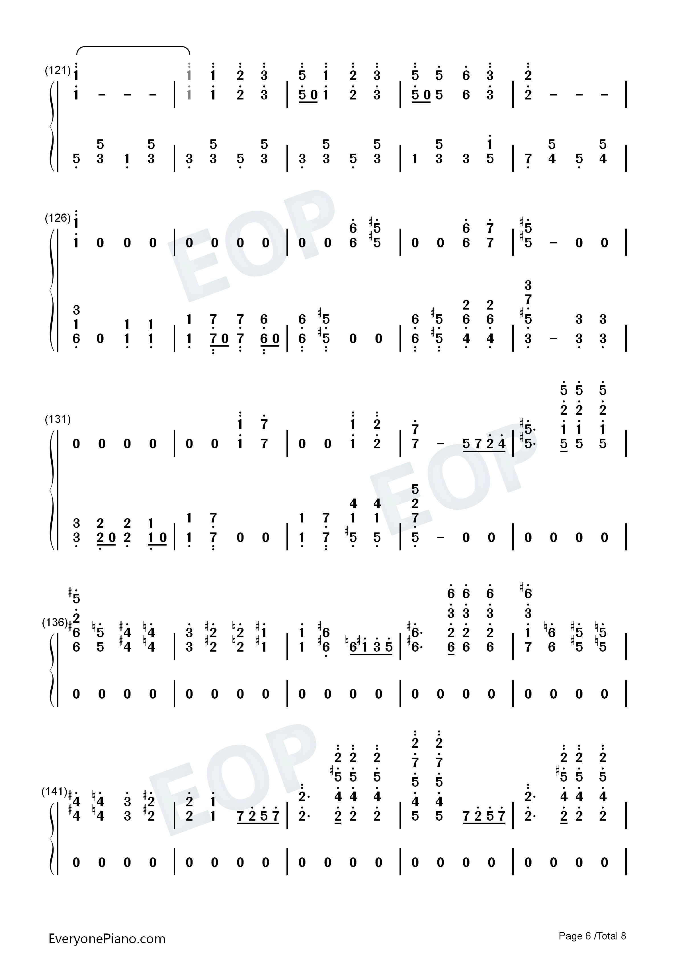 The Stars and Stripes Forever-John Philip Sousa Numbered Musical Notation Preview 6