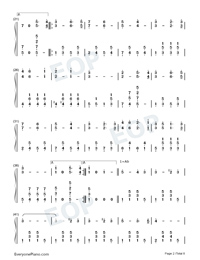 The Stars and Stripes Forever-John Philip Sousa Numbered Musical Notation Preview 2