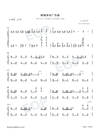 Atelier Cologne Perfume Song-Numbered-Musical-Notation-Preview-1