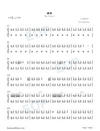 The Forest-Hui Che Numbered Musical Notation Preview 1