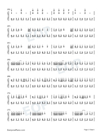 The Forest-Hui Che Numbered Musical Notation Preview 3