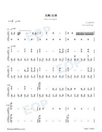 Unrestrained-Adapted Version-Numbered-Musical-Notation-Preview-1