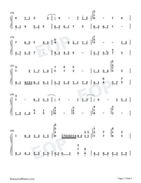 Unrestrained-Adapted Version-Numbered-Musical-Notation-Preview-2