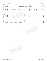 Unrestrained-Adapted Version-Numbered-Musical-Notation-Preview-5