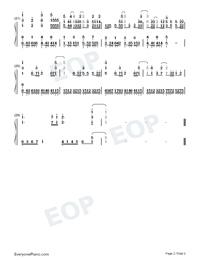 Torches-海盜戰記ED雙手簡譜預覽2