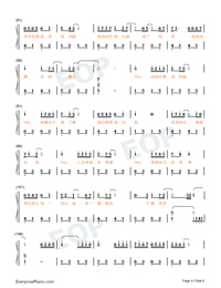 Hey Are You OK-Waiting For You In The Future Theme-Numbered-Musical-Notation-Preview-4