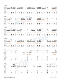Hey Are You OK-Waiting For You In The Future Theme-Numbered-Musical-Notation-Preview-5