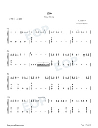 Mang Zhong-Perfect Version-Numbered-Musical-Notation-Preview-1