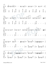 Mang Zhong-Perfect Version-Numbered-Musical-Notation-Preview-2