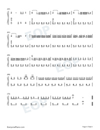 Mang Zhong-Perfect Version-Numbered-Musical-Notation-Preview-4
