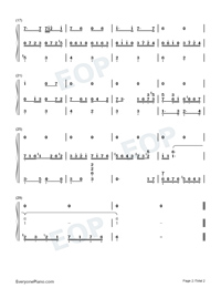 Dichterliebe Op.48 No.10-Andhadhun OST Numbered Musical Notation Preview 2