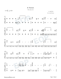 A Forest-Westworld OST-Numbered-Musical-Notation-Preview-1