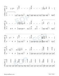 A Forest-Westworld OST-Numbered-Musical-Notation-Preview-2