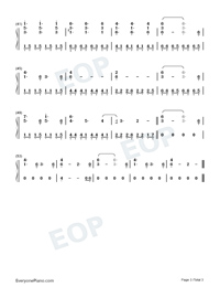 A Forest-Westworld OST-Numbered-Musical-Notation-Preview-3
