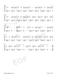 赤伶-抖音熱歌雙手簡譜預覽2
