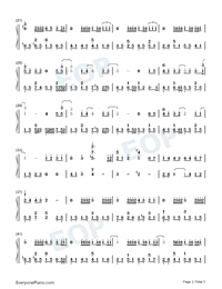 Wont Cry-Jay Chou Numbered Musical Notation Preview 2