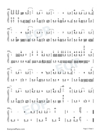 Wont Cry-Jay Chou Numbered Musical Notation Preview 3