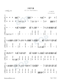 All Love And Kindness-Numbered-Musical-Notation-Preview-1