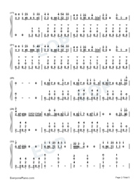 Liar-Camila Cabello-Numbered-Musical-Notation-Preview-2