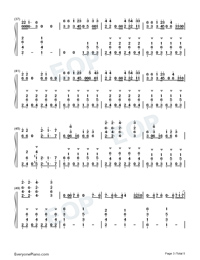 Liar-Camila Cabello-Numbered-Musical-Notation-Preview-3